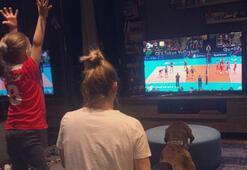 Guidettinin eşi ve çocuğu maçı TVden izledi