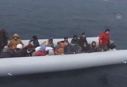 İzmirde 221 düzensiz göçmen yakalandı