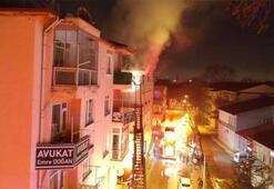Üniversite öğrencilerinin kaldığı yurtta yangın çıktı