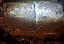 Yağmur suları, mezar stellerini ortaya çıkardı
