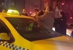 Polise direnen taksiciden şoke eden hareket