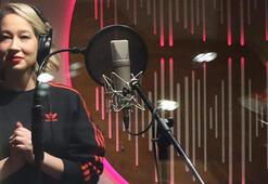 Gülçin yeni şarkısı için stüdyoda