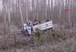 Yoldan çıkıp ağaca çarptı: 1 ölü, 2 yaralı