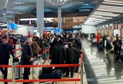 İstanbul Havalimanında yarıyıl tatili hareketliliği...