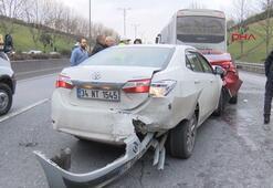 TEMde zinclirleme kaza Trafik kilitlendi