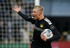 Son dakika... Borussia Dortmundda Haaland çılgınlığı Hat-trick yaptı...
