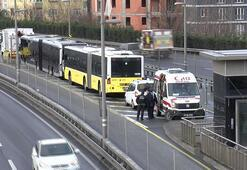 Son dakika... Okmeydanında metrobüs kazası