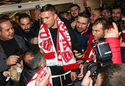 Podolskiye Antalyada coşkulu karşılama