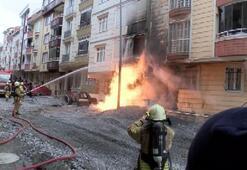 Esenyurtta iş makinesi doğal gaz borusunu patlattı