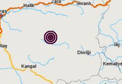Son dakika haberi... Sivasta korkutan deprem