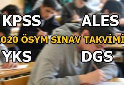 KPSS, ALES, YKS, DGS sınav başvuru tarihleri açıklandı 2020 sınav takvimi yayımlandı