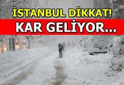 Kar yağışı etkili olacak Meteoroloji, İstanbulu uyardı...