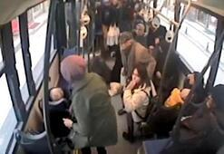 Halk otobüsü, otomobile çarptı Faciadan dönüldü