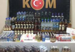 Bursada kaçak içki ve sigaraya 2 gözaltı