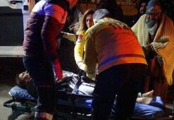 İtfaiyenin yangın tüpü bir kadını yaraladı