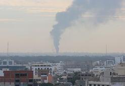 Son dakika... Hafter güçleri Trablus havalimanını vurdu