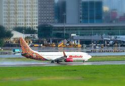 Malezyada Malindo Hava Yolları uçağının motoru yandı