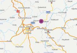 Ankarada peş peşe depremler Depremlerin şiddeti...