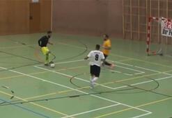 Futsal maçında muazzam gol