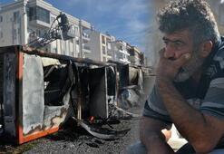 İşçi konteynerindeki 100 bin lira yandı
