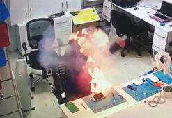Cep telefonu bataryasının patlamasıyla ölümden döndü
