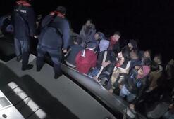 Balıkesirde 18 düzensiz göçmen yakalandı