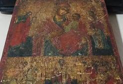Hz. İsa ve Hz. Meryem figürlü tablo ele geçirildi