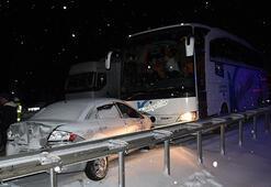Kütahyada 7 aracın karıştığı zincirleme kaza: 3 yaralı