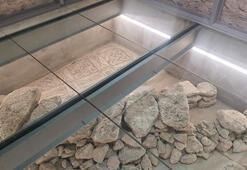 Belediye binasının restorasyonunda tarihi mozaikler bulundu