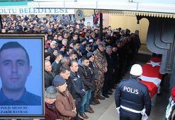 Futbol oynarken kalp krizi geçiren polis memuru son yolculuğuna uğurlandı