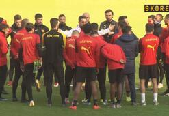Göztepe, yeni stadında ilk antrenmanını yaptı