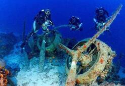 2nci Dünya Savaşından kalma Tam 75 metre derinlikte
