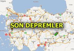SON DEPREMLER - ANLIK LİSTE | Son dakika deprem haberleri
