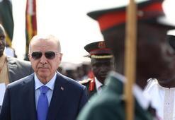 Cumhurbaşkanı Erdoğan Gambiyadan ayrıldı