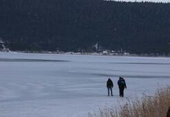 Abant Tabiat Parkı dondu
