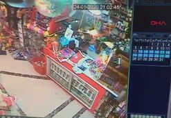Depreme yakalanan vatandaşların yaşadığı panik kamerada