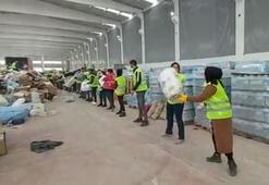 Deprem bölgesine gelen gönüllülerden yardım zinciri