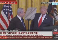 Trump Yüzyılın Planını açıkladı: Kudüs bölünmemiş bir şekilde İsrailin olacak