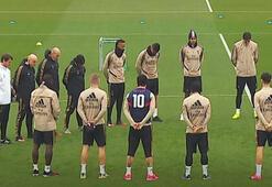 Real Madrid Kobe için saygı duruşunda bulundu