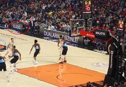 NBA maçında Elazığ ve Malatya unutulmadı
