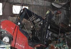 İş yerinin tavanı çöktü Faciadan dönüldü