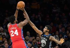Embiid, Kobe Bryantın anısına giydiği 24 numaralı formayla 24 sayı  attı