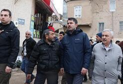 Çevre ve Şehircilik Bakanı Kurum, depremzedeleri ziyaret etti
