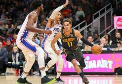 Young asist rekoru kırdı, Hawks rahat kazandı: 127-117