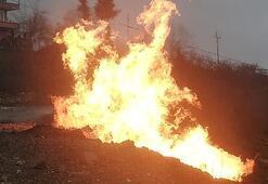 Orduda doğal gaz hattı patladı