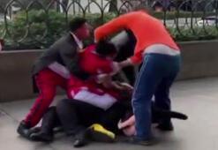 Minnie Mouse, güvenlik görevlisini dövdü