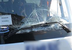 TEMde otobüs kazası: 5 yaralı