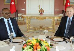 Cumhurbaşkanı Erdoğan Cissoko Bissaau ile görüştü