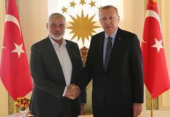 Son dakika... Cumhurbaşkanı Erdoğan, İsmail Heniyyeyi kabul etti