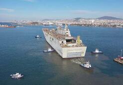 Sona gelindi Türkiyenin ilk uçak gemisinden fotoğraflar